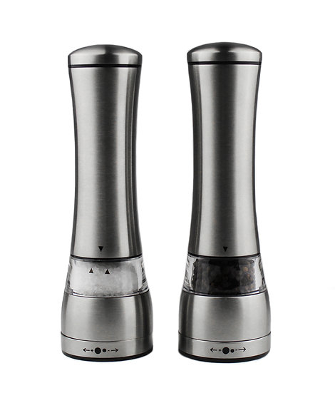 Pepper Grinder and Salt Grinder Mill Set of 2, Acrylic Stainless-Steel Pepper Mi