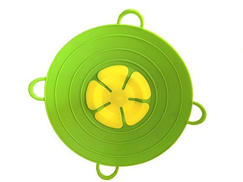 Spill Stopper Lid Pan and Pot Prevent Messy Spillovers 11inch - Multifunction Si