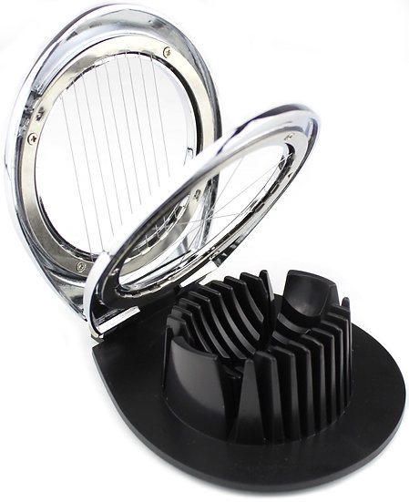 CalSuno Stainless Steel Boiled Egg Cutter Essential Kitchen Tool Slicer 3 in 1