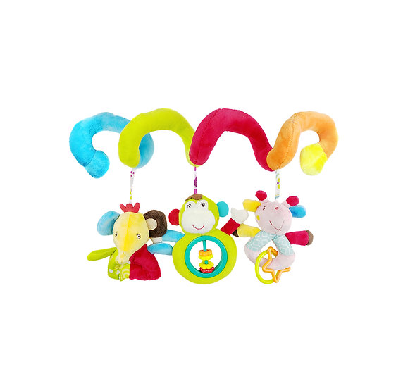 CalLife Multi-function Infant Baby Plush Hanging Spiral Toy