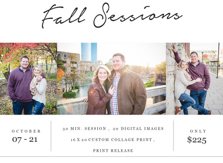 Now Booking Fall Sessions!