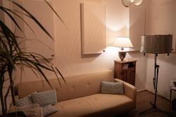 Schallabsorber im Raum, Anwendungsbeispiel Homestudio1