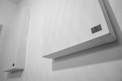 Schallabsorber im Raum, Detail