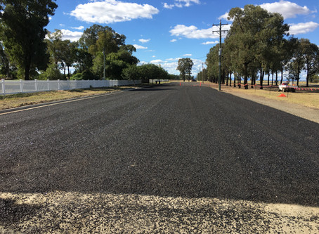 Bitumen Car Park Construction for Western Downs Regional Council at the Myall Remembrance Park Dalby