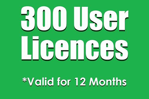 300 SubNow 12 Month User Licences