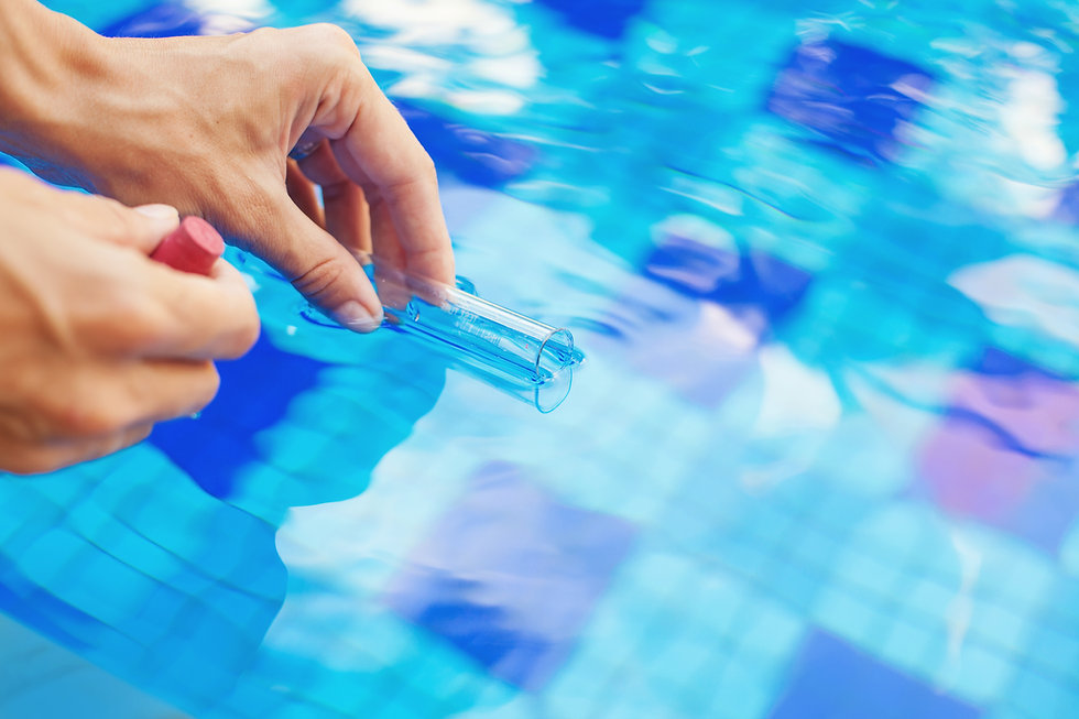 Analyzing of a water from swimming pool,