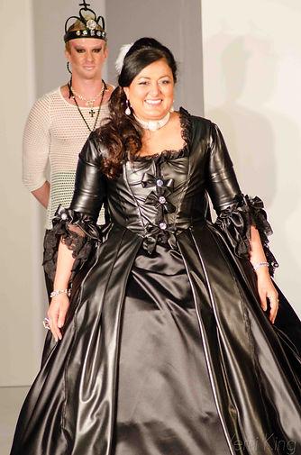 Kiron Barui's dress for London Fashion Week 2015