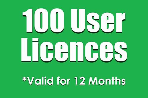 100 SubNow 12 Month User Licences