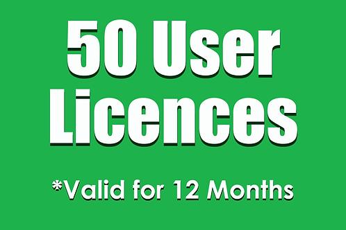 50 SubNow 12 Month User Licences