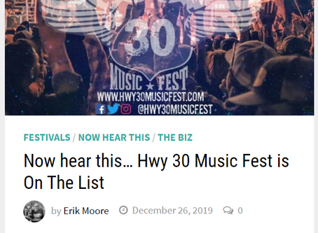 Hwy 30 Music Fest is On The List