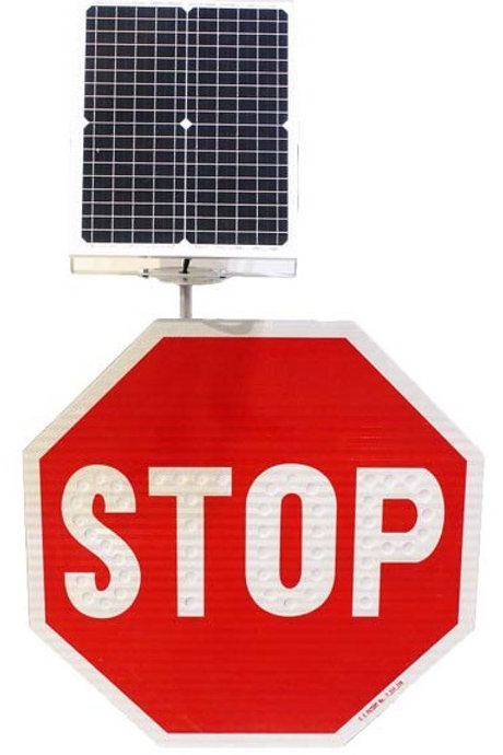 """30"""" LED Solar Stop Sign"""