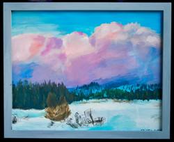 Kirkwood Meadows and pink Clouds