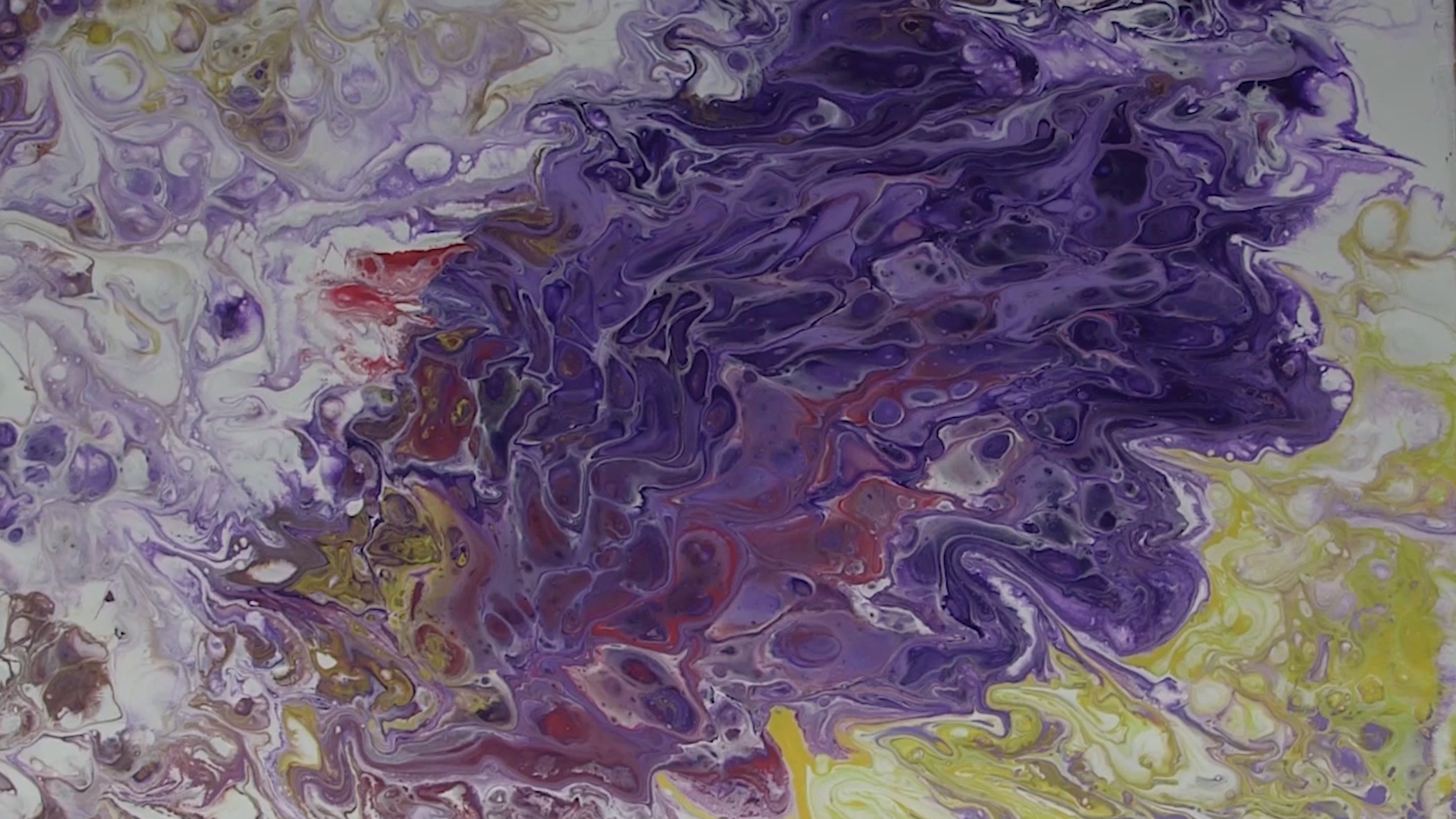 Top down view of abstract painting