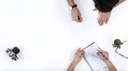 Designers working on product sketch