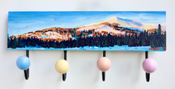 Pink Mountains Wall Rack