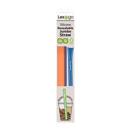 Pack of 2 Resealable Jumbo Straws