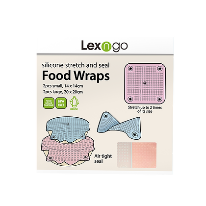Silicone Food Wraps (Pack of 4)