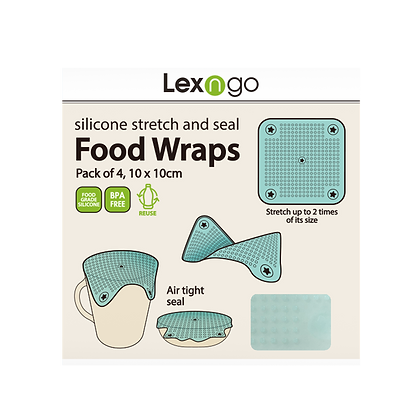 Small Silicone Food Wraps (Pack of 4)