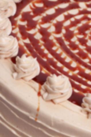 Sea Salt Caramel Cake Close Up