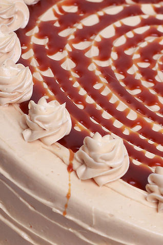 Sea Salt Caramel Cake Close Up