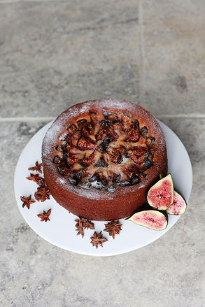 Gluten Free Fig and Star Anise Cake