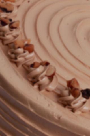 Coffee and Walnut Cake Close Up