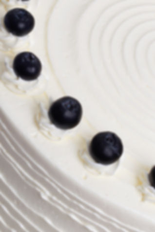 Blueberry and Elderflower Cake Close Up