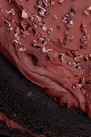 Vegan Chocolate Cake Close Up