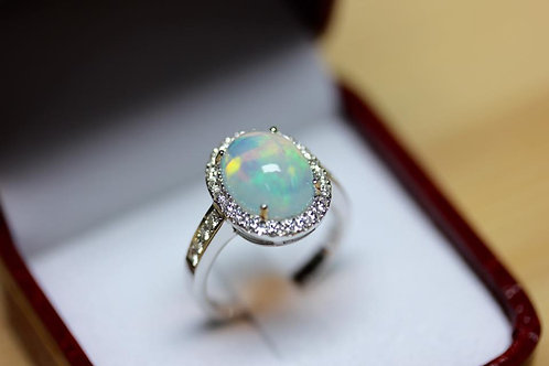 W series6- Shakespeare Inspiring Opal Ring
