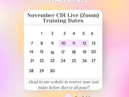 Seats Still Available for the Upcoming November & January Live(Zoom) PCIT Training!