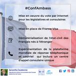 Annonces du ministre Jean-Yves Le Dernier lors de la conférence des ambassadeurs