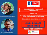 Facebook live jeudi 9 juillet à 13h30 !