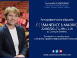 Permanence de Samantha Cazebonne à Madrid le 22 septembre