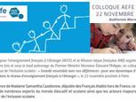 COLLOQUE AEFE/MLF INCLUSION SCOLAIRE - 22/11/2019