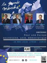 """Conférence """"Pour une Europe souveraine, unie et démocratique"""" 24/05 Lisbonne"""