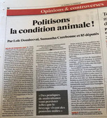 Politisons la condition animale !