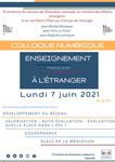 Colloque enseignement français à l'étranger - 7 juin