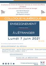 Colloque numérique sur l'enseignement français à l'étranger du 7 juin