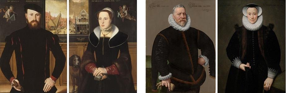 Portretten van een anonieme man en vrouw, Pieter Pourbus en Frans II Pourbus