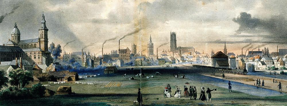 De Muinkmeersen, Gent in 1837