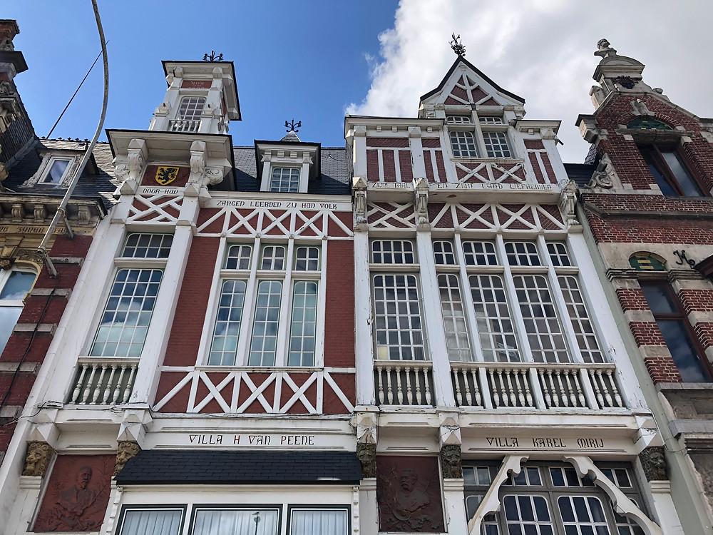 Villa's 'Van Peene' en 'Miry' aan de Vlaamsekaai.