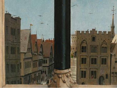 Schilderde Van Eyck de Kortedagsteeg op het Lam Gods?