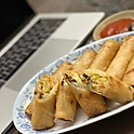 Two Packaged Spring Rolls (un-cooked)