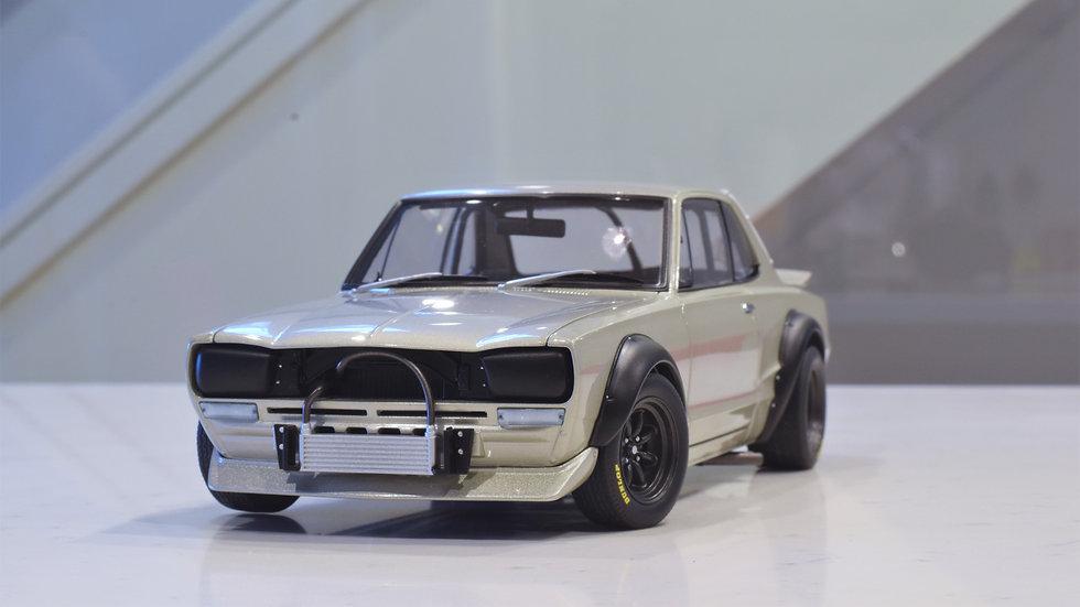 1/18 AUTOart -  NISSAN SKYLINE GT-R (KPGC-10) RACING 1972 (SILVER)