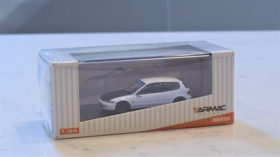1/64 TARMAC WORKS - Spoon Honda Civic EG6 (WHITE)