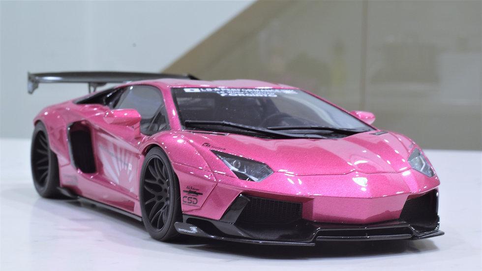 1/18 Kyosho Liberty Walk Lamborghini Aventador LP700-4 - Pink