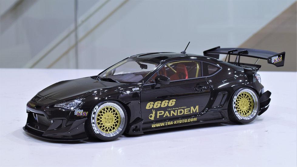 1/18 IGNITION MODEL - Rocket Bunny V3 Toyota 86 / Scion FR-S - Black