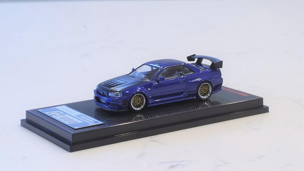 1/64 IGNITION MODEL - Nissan Skyline GT-R NISMO Z-TUNE BLUE