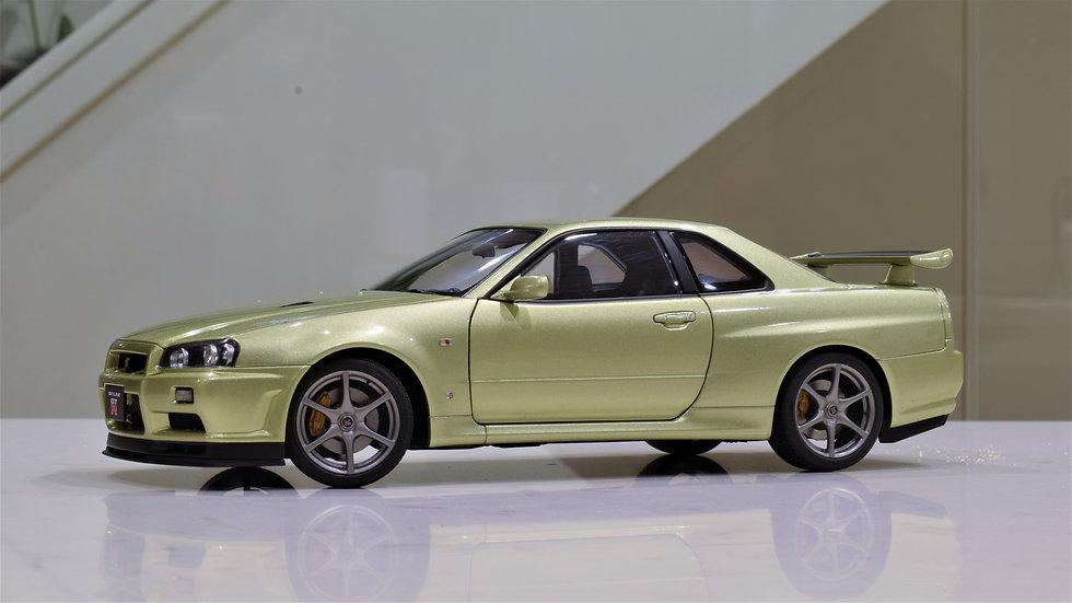 "1/18 AUTOart Nissan Skyline GT-R (R34) V- SPEC II ""Nur"" (MILLENIUIM JADE)"