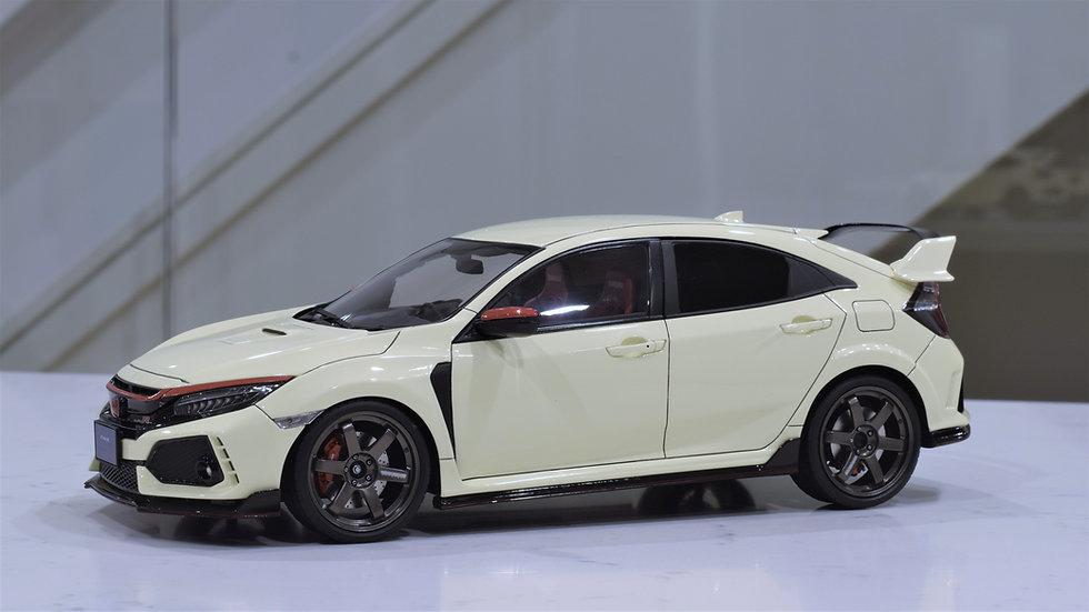 1/18 IGNITION MODEL - Honda Civic Type R (FK8) - TE37 Saga- Championship White